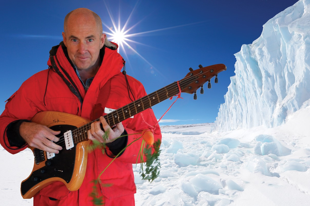 Henry Kaiser with Timberdance Swamp Angel Guitar (photo: Brandy Gale)